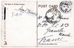 CV Expédiée De NEWTON-ABBOTT (GB) Vers Un Militaire Du CI N° 3 à GRANVILLE - Army: Belgium