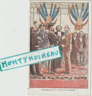 Vieux  Papiers: Env. 12 Par 8 Cm  Les  Droits De L'  Homme : Hommage à La  Vertu , Au Talent, Illustrateur P. Méjarrel - Dépliants Touristiques