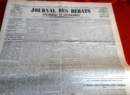 Journal Des Débats 10 Octobre 1936 Guerre Espagne Nationaux Occupent Navalperal Siguenza,Oviedo,Comte Ciano - Newspapers