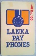 17SRLA Lanka Pay Phones Rs 100 - Sri Lanka (Ceilán)
