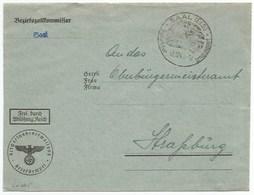 Sk875 - SAAL - Décembre 1943 - Franchise BEZIRKSZOLLKOMMISSAR - SAALES - - Alsace Lorraine