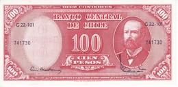 BILLETE DE CHILE DE 100 PESOS AÑO 1960 EN CALIDAD EBC (XF) (BANK NOTE) - Chili