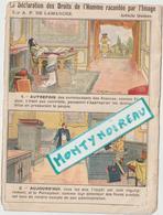 Vieux  Papiers: Env. 15 Par 11 Cm : Droits D El ' Homme Article 15 A P De Lamarche - Dépliants Touristiques