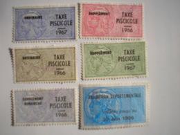 FRANCE - 6 Timbres Fiscaux Sur La Pêche - Revenue Stamps