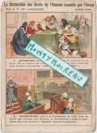 Vieux  Papiers: Env. 15 Par 11 Cm : Droits D El ' Homme Article 16 A P De Lamarche - Dépliants Touristiques