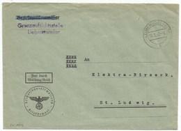 Sk879 - LEIMEN (OBERELS) - Mai 1943 - Franchise GRENZAUFSICHTSSTELLE - LEYMEN - - Marcophilie (Lettres)