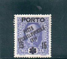 TCHECOSLOVAQUIE 1919 * - Tchécoslovaquie