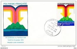 L4M183 POLYNESIE FRANCAISE 1979 FDC 19è Conférence Du Pacifique Sud 23f Papeete 06 10 1979 /envel.  Illus. - FDC