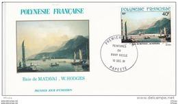 L4M221 POLYNESIE FRANCAISE 1981 FDC Baie De Matavai 40f Papeete 10 12 1981 / Envel.  Illus. - FDC