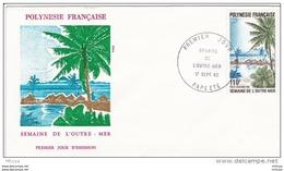 L4M233 POLYNESIE FRANCAISE 1982 FDC Semaine De L'Outre Mer 110f Papeete 17 09 1982 / Envel.  Illus. - FDC