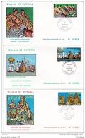 L4N036 WALLIS ET FUTUNA 1978 FDC Coutumes Et Traditions 53f, 55f, 59f  Mata-Utu 18 06 1978 / 3 Envel.  Illus. - FDC