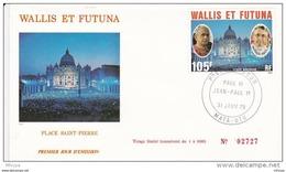 L4N041 WALLIS ET FUTUNA 1979 Pape FDC Paul VI Jean Paul 1er 105 Mata-Utu 31 01 1979 / Envel.  Illus. - FDC