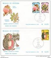 L4N045 WALLIS ET FUTUNA 1979 FDC Arbres A Fleurs Et A Fruits  50f, 64f, 76f Mata-Utu 23 04 1979 /2 Envel.  Illus. - FDC