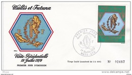 L4N051 WALLIS ET FUTUNA 1979 FDC Visite Présidentielle 47f  Mata-Utu 19 07 1979 / Envel.  Illus. - FDC