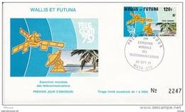 L4N054 WALLIS ET FUTUNA 1979 FDC 3ème Exposition Mondiale Télécommunications 120f Mata-Utu 20 09 1979 / Envel.  Illus. - FDC
