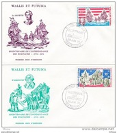 L4N061 WALLIS ET FUTUNA 1976 FDC Bicentenaire Des Etats Unis 19f, 47f Mata-Utu 28 06 1976 /2 Envel.  Illus. - FDC