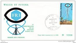 L4N109 WALLIS ET FUTUNA 1980 FDC 1er Anniversaire Sation Radio FR3 Mata-Utu 21 04 1980 / Envel.  Illus. - FDC