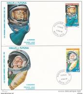 L4N117 WALLIS ET FUTUNA 1981 Espace FDC CA Shepard 37f, Y Gagarine 44f Mata-Utu 11 05 1981/ 2 Envel.  Illus. - FDC