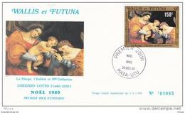 L4N118 WALLIS ET FUTUNA 1980 FDC Noël 1980 150f Mata-Utu 20 12 1980/ Envel.  Illus. - FDC