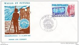 L4N133 WALLIS ET FUTUNA 1982 FDC Philexfrance 140f Mata-Utu 12 05 1982 / Envel.  Illus. - FDC