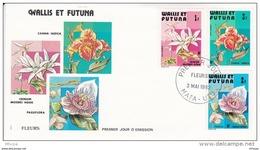 L4N134 WALLIS ET FUTUNA 1982 Fleurs FDC Passiflora Crinum Canna Indica  Mata-Utu 03 05 1982 / Envel.  Illus. - FDC