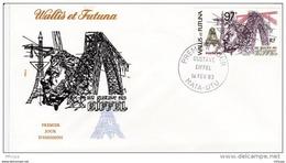 L4N145 WALLIS ET FUTUNA 1983 FDC Gustave Eiffel 97f Mata-Utu 14 02 1983 /envel.  Illus. - FDC