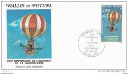 L4N148 WALLIS ET FUTUNA 1983 FDC 200è Anniversaire Invention Montgolfière 205f Mata-Utu 25 04 1983 /envel.  Illus. - FDC