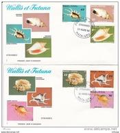 L4N163 WALLIS ET FUTUNA 1984 Coquillages FDC Strombes  Mata-Utu 23 03 1984 / 2 Envel.  Illus. - FDC