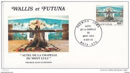 L4N173 WALLIS ET FUTUNA 1984 FDC Autel De La Chapelle Du Mont Lulu 52f Mata-Utu 05 11 1984 / Envel.  Illus. - FDC