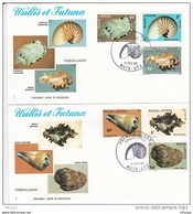 L4N177 WALLIS ET FUTUNA 1985 Coquillages FDC   Mata-Utu 11 02 1985 / 2 Envel.  Illus. - FDC