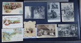 Publicité - Chocolat - Lot De 9 Cartes Postales - 2 Scans - Publicité