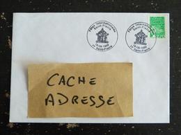 SAINT FIACRE - SEINE ET MARNE - CACHET COMMEMORATIF FETES INTERNATIONALES 1999 SUR ROULETTE MARIANNE LUQUET - Marcophilie (Lettres)