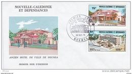 L4O140 NOUVELLE CALEDONIE 1976 FDC Ancien Hotel De Ville De Nouméa 75f 125f Nouméa 22 10  1976 / Envel. Illus. - FDC