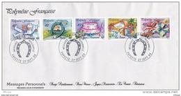 L4O232 POLYNESIE FRANCAISE 1989 FDC Messages Personnels Papeete 27 09 1989 / Envel.  Illus. - FDC