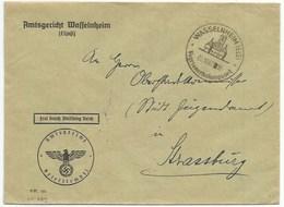 Sk889 - WASSELNHEIM (ELS) - Octobre 1942 - Franchise AMTSGERICHT - WASSELONNE - - Poststempel (Briefe)