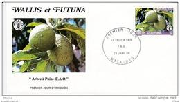 L4P038 WALLIS ET FUTUNA 1986 FDC Le Fruit à Pain 39f Mata-Utu 23 01 1986/envel.  Illus. - FDC