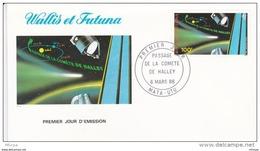 L4P040 WALLIS ET FUTUNA 1986  FDC Passage De La Comête Halley 100f Mata-Utu 06 03 1986/envel.  Illus. - FDC