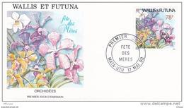 L4P094 WALLIS ET FUTUNA 1990 FDC Fête Des Mères 78f Mata-Utu 16 05 1990/envel.  Illus. - FDC