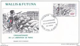 L4P222 WALLIS ET FUTUNA 1994 FDC Cinquantenaire Libération De Paris 110f  Mata-Utu 21 04 1994/ Envel.  Illus. - FDC