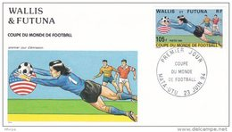 L4P224 WALLIS ET FUTUNA 1994 FDC Coupe Du Monde De Football 105f  Mata-Utu 23 06 1994/ Envel.  Illus. - FDC