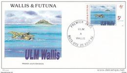 L4P227 WALLIS ET FUTUNA 1994 FDC ULM à Wallis 5f Mata-Utu 25 08 1994/ Envel.  Illus. - FDC