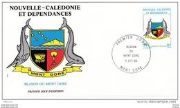 L4Q052 NOUVELLE CALEDONIE 1987 FDC Blason Du Mont Dore  94f Nouméa 29 10 1987 /env. Illus. - FDC