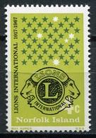 Norfolk Island Mi# 93 Postfrisch/MNH - Lions Club - Norfolkinsel
