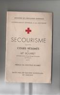 Manuel De Secourisme Mlle Bourret Infirmière Croix Rouge Au Creusot - Salute