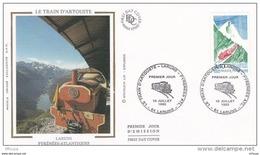 L4R324 FRANCE 1993 FDC Le Train D'Artouste Laruns 3,40f Laruns 10 07 1993/ Envel.  Illus. - 1990-1999