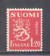 (SA0336) FINLAND, 1930 (Arms Of Finland, 1.20m., Crimson). Mi # 151. MNH** Stamp - Neufs