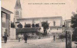 Sault - De - Navailles - L'Eglise , Le Monument Aux Morts - Autres Communes