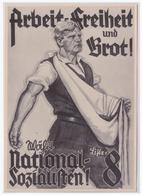 DT- Reich (001193) Propaganda Sammelbild Deutschland Erwacht Bild 88, Wahlplakat Der NSDAP - Germania