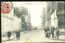St Mandé 94 Rue Des Vallées Très Animée 1906 Gondry Carte Tachée - Saint Mande