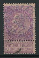 Blauwe Stempel DEP 6E BUREAU Op OCB 67.  Zeer Schaars! - Postmark Collection